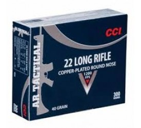 CCI AR Tactical 22LR 40Gr Copper Plated