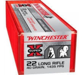 WINCHESTER 22lr 40gr,1435FPS hp Copper Plated